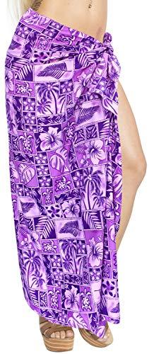 costume coprire s23 di sarong del LA involucro LEELA beachwear vestito pareo pannello Viola bagno costumi esterno bagno donne di da qwHpEFBHv