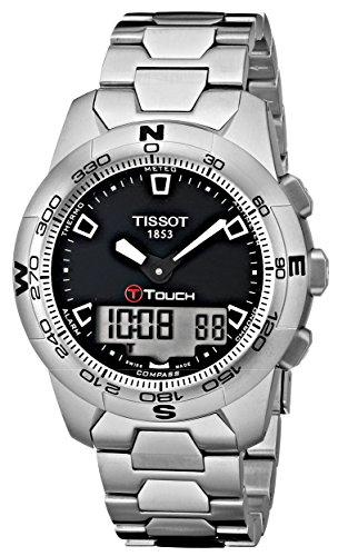 Tissot Men's T0474201105100 T-Touch II Black Digital Multi Function Watch (Tissot Watches Altimeter)