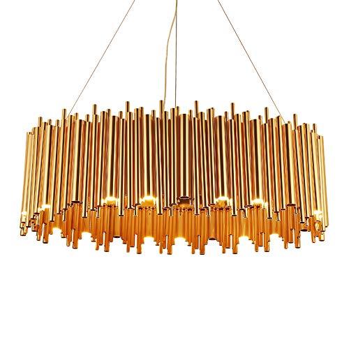 Grande Ovalada Up & Down Bauhaus tubos araña con tecnología LED en oro. 25 LED Combustión espacios. Visite Up & Down Lámparas de pared bestellbar.
