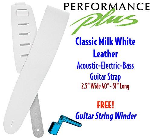 Performance Plus GS25-W Guitar Strap, Milk White