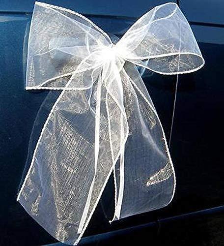 Fleurs artificielles Blanches WeddingCarDecor Kit de d/écoration de Voiture de Mariage Unique