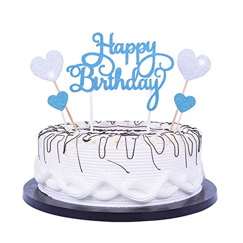 YUINYO Happy Birthday Cake Topper letters