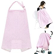 Accmor Nursing Cover, Lightweight Breathable 100% Cotton Privacy Feeding Cover, Nursing Cover for Breastfeeding - Full Coverage, Adjustable Strap, Stylish and Elegant
