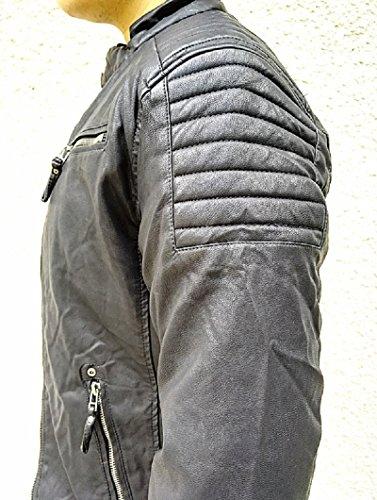 Veste Manteau Cuir Blouson Jacket Hiver Fourrure Doudoune Simili PwPqrO46