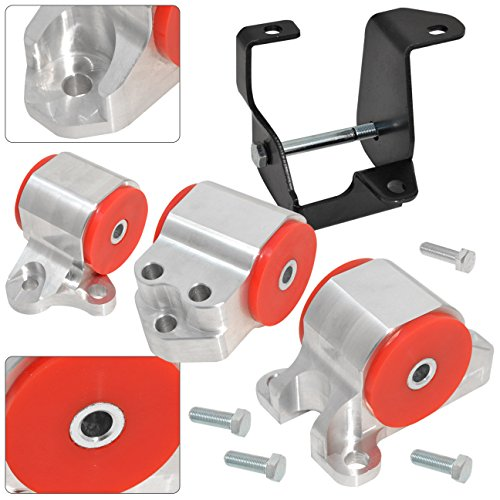 Honda Engine Swap Motor Mounts - AJP Distributors For Civic B-Series B16 B18 B20 B18A B18C Polyurethane Engine Swap Motor Mounts Kit Red