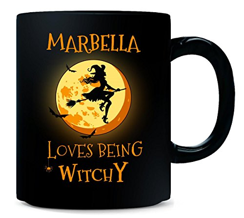 Marbella Loves Being Witchy. Halloween Gift - Mug