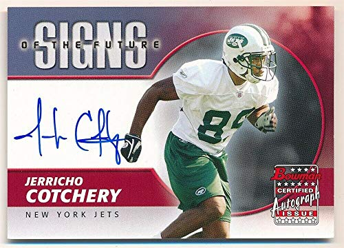 (BIGBOYD SPORTS CARDS JERRICHO COTCHERY 2004 Bowman RC Rookie Signs Future Autograph Jets AUTO SP F3)