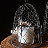 Chicken Wire Cloche, 10 inches tall, Vintage, Rustic Barn Roof Finish