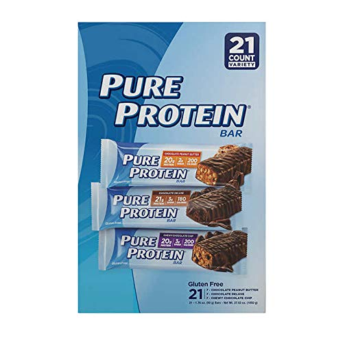 Pure Protein Bars Variety Pack 1.76 oz, 21-count