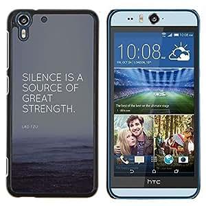 Dragon Case - FOR HTC Desire EYE M910x - success great strength source quote - Caja protectora de pl??stico duro de la cubierta Dise?¡Ào Slim Fit