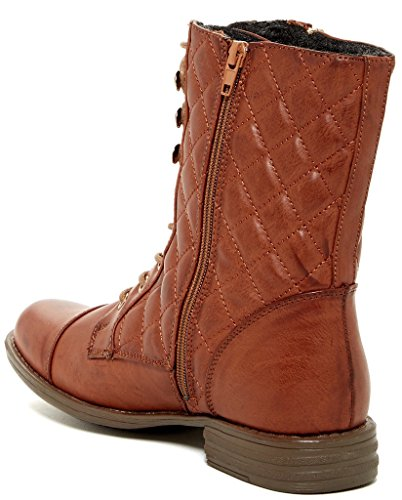 Modern Rebel Ellera Womens Fashion Faux Fur-Lined Quilted Zipper Boots Cognac xj83Q6jjm