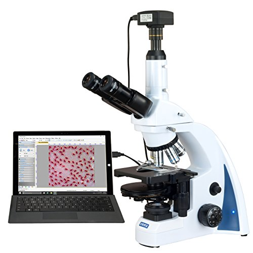 OMAX 40X-3000X 14MP USB3.0 Digital Quintuple Infinity PLAN Phase Contrast LED Kohler Lab Microscope