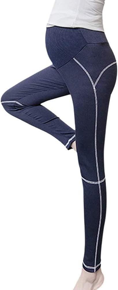 Hellomiko Mujeres Embarazadas Pantalones de Yoga de Alta ...