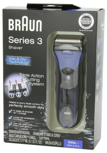 Braun 3 Series 340S Men's Electric Foil Shaver / Electric Razor, Wet & Dry by Braun (Image #7)