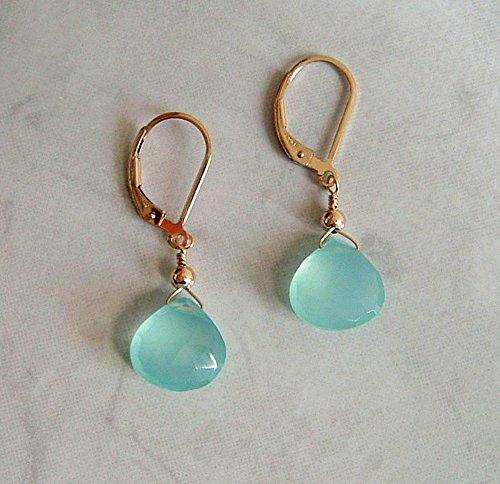 Briolette Gold Filled Leverback Earrings ()