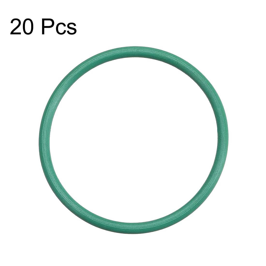 31mm OD uxcell Fluorine Rubber O Rings Seal Gasket Green 20Pcs 1.5mm Width 28mm Inner Diameter