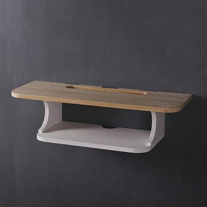 Mueble para TV de Madera Maciza de Pared Estante de Pared ...