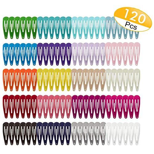 120 Pack 2 Inch Snap Hair Clips Hair
