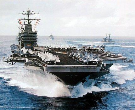 - Aircraft Carrier USS John C. Stennis Navy Ship Military Aircraft Wall Decor Art Print Poster (16x20)
