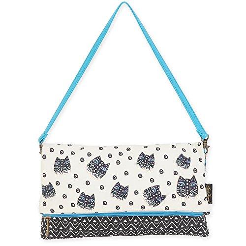 Laurel Burch Flap Clutch Handbag 5750 (C. Polka Dot Gatos)