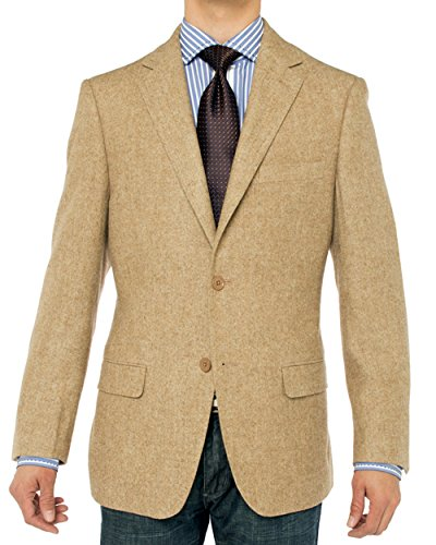 Luciano Natazzi Men's Luxurious Camel Hair Blazer Coat Modern Fit Suit Jacket