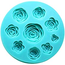 SK 3D Rose Flower Shape Diy Fondant Chocolate Silicone Mold Sugar Decoration Baking Tools