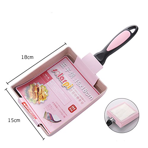 Olayer Frying Omelet Fried Eggs Square Pan Aluminum Non-stick Multi Color