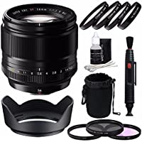 Fujifilm XF 56mm f/1.2 R Lens + 62mm 3 Piece Filter Set (UV, CPL, FL) + 62mm +1 +2 +4 +10 Close-Up Macro Filter Set with Pouch Bundle 2