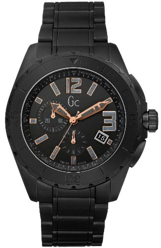 X76009G2S Guess GC Swiss Sports Class Double Extra Large Black Ceramic Mens Watch