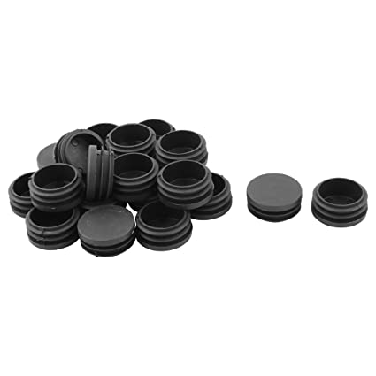 Uxcell Plastic Household Round Furniture Sofa Foot Ending Tube Pipe Insert  Cap 21pcs