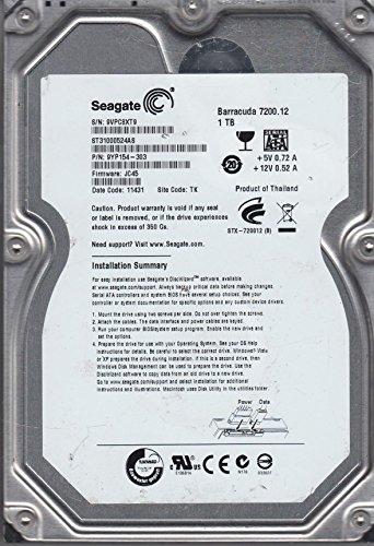 ST31000524AS, 9VP, TK, PN 9YP154-303, FW JC45, Seagate 1TB SATA 3.5 Hard Drive