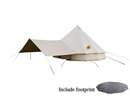 DANCHEL 100% Cotton Bell Tent 400 with Awning and Two Stove Jacket  sc 1 st  Amazon.com & Amazon.com : DANCHEL 100% Cotton Bell Tent with Awning Black ...