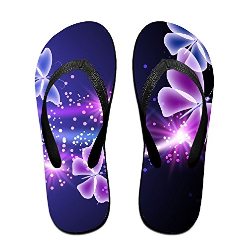 Unisex Summer Butterflies Beach Slippers Home Flip-Flop Flat Thong Sandal Shoes