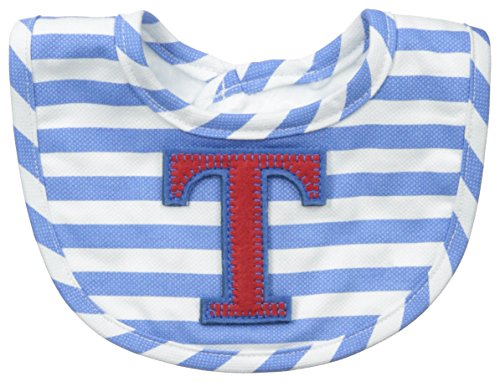 Mud Pie Baby-Boys Newborn T Initial Boy Bib, Blue, One Size (Baby Initial Bib)
