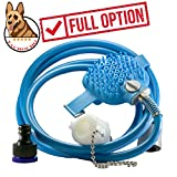 Combination Shower Sprayer and Scrubber Pet Bathing Tool Pet Supplies for Dog Grooming Dog Suppliest Shower Dog Grooming kitPet Shower Sprayer for Massage with 7.5 Foot Hose and 2, Indoor/Outdoor Use