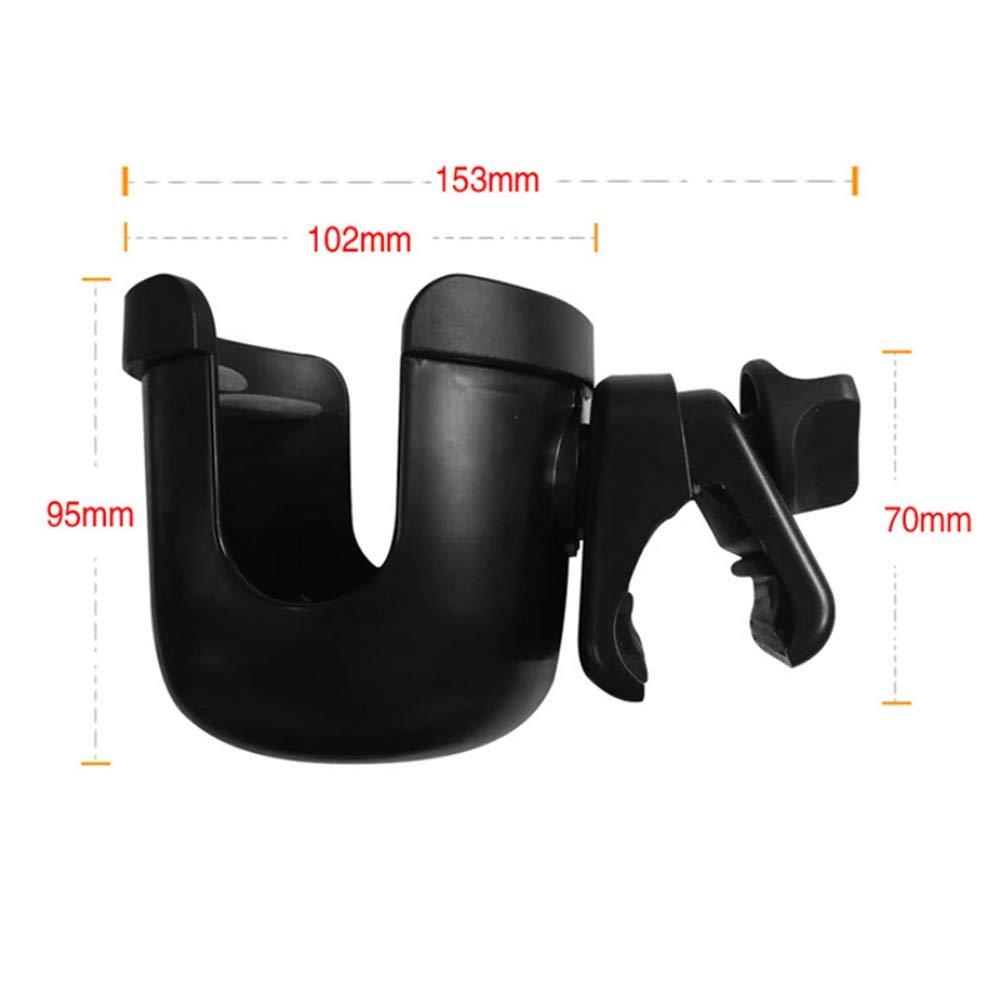 ABS Baby Stroller Bottle Holder Universal Baby Stroller Cup Organizer Adjustable Pushchair Bottle Holder