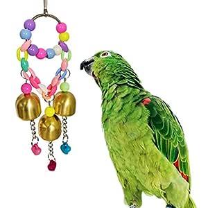 KingbeefLIU Colorido Loro Juguete Campana Anillo Columpio Pájaro ...