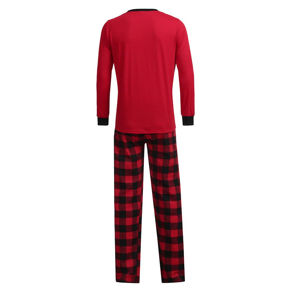 9a00088cff YunZyun 2 Piece Women Men Kids Christmas Plaid Pajama Sets Jammies Matching  Family Winter Long Sleeve Cartoon Fashion Novetly Warm Cotton Pjs Sleepwear  for ...