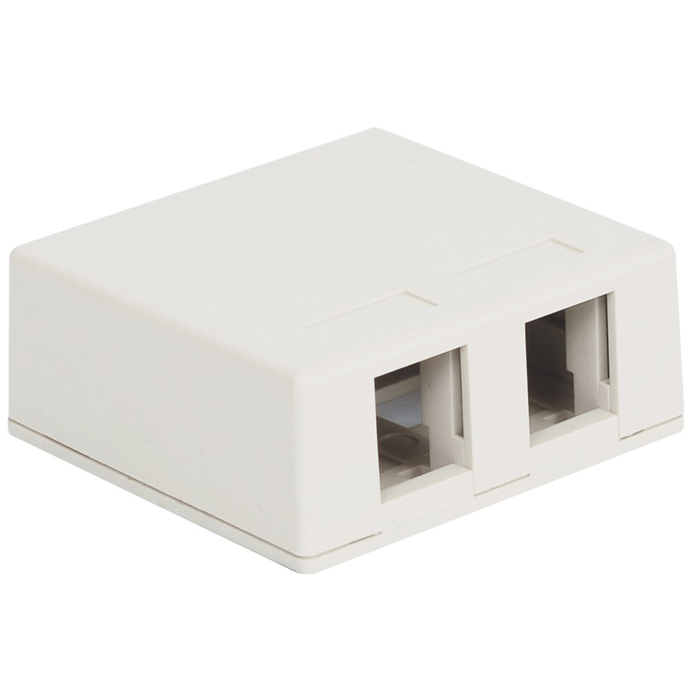 25Pk Surface Mount Box, 2-Port White (ICC-IC107BC2WH) Category: Faceplates and Mounting Boxes by ICC