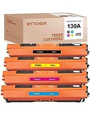 MYTONER Remanufactured Toner Cartridge Replacement for HP 130A CF350A CF351A CF352A CF353A for Color Laserjet Pro MFP M176n M177fw Printer (Black Cyan Magenta Yellow,4-Pack)