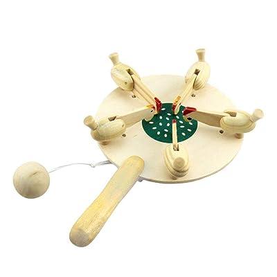 YeahiBaby - Juguete Educativo para recién Nacidos, diseño de gallinas de Madera: Hogar