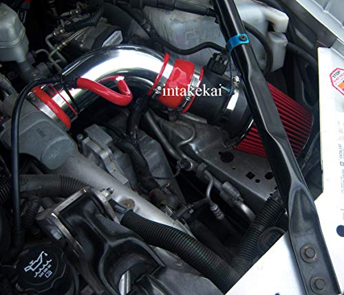 PERFORMANCE SHORT RAM AIR INTAKE KIT FOR 2005-2008 PONTIAC GRAND PRIX GXP 5.3 5.3L V8 GAS OHV ENGINE (RED) (2006 Pontiac Grand Prix Cold Air Intake)