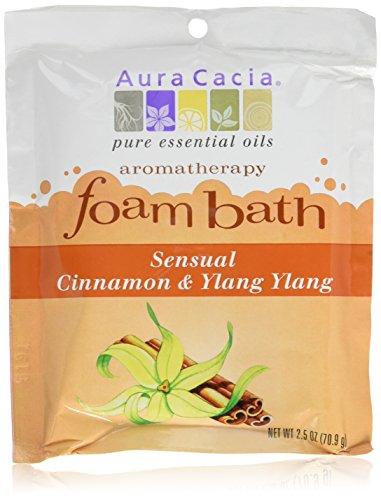(Aura Cacia Cinnamon and Ylang Ylang Aromatherapy Foam Bath, 2.5 Ounce - 6 per case.)