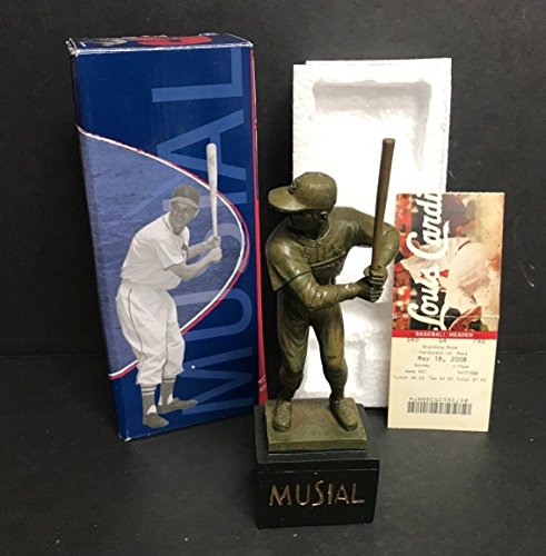 Louis Cardinals Tickets (Stan Musial 2008 St Louis Cardinals Limited Edition Statue SGA with Ticket stub)
