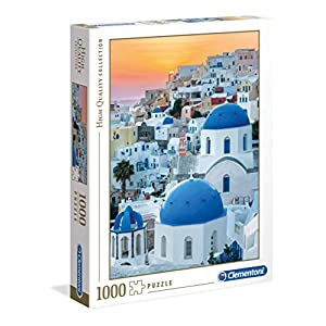 Clementoni Collection Puzzle Santorini 1000 Pezzi Multicolore 39480
