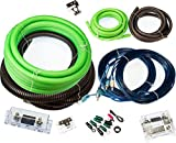 VOODOO Green True 1/0 AWG Gauge Dual Amp COMPLETE kit 0 amplifier 5000 Watt