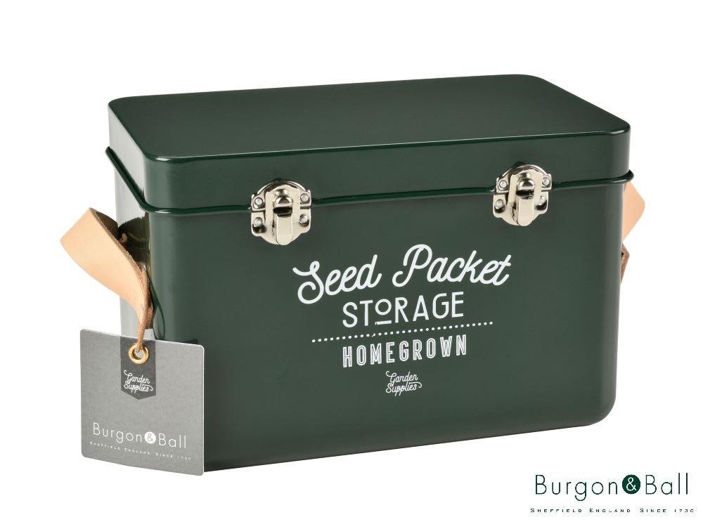 Burgon & Ball Seed Packet Storage Tin Frog Green by Burgon & Ball