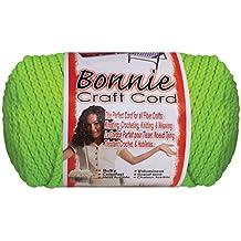 Bonnie Macrame Neon Craft Cord 4mmx100yd-Chartreuse