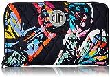 Vera Bradley RFID Turnlock Wallet, Signature Cotton, Butterfly Flutter