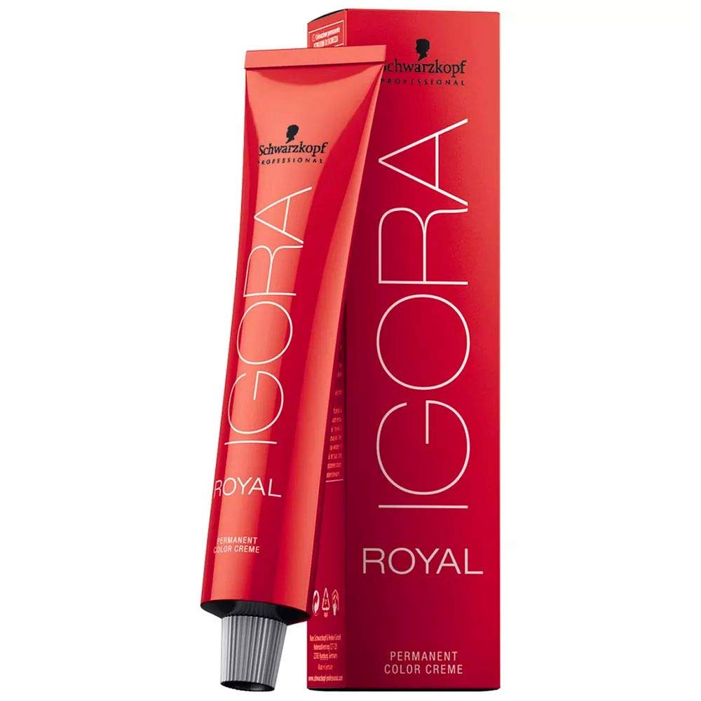 Schwarzkopf Professional Igora Royal Permanent Color Creme, 1-0 Black, 60 Gram